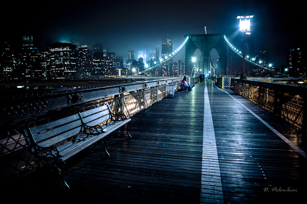 Brooklyn Bridge New York City - Night Photography