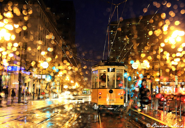 San Francisco In Rain - Night Photography