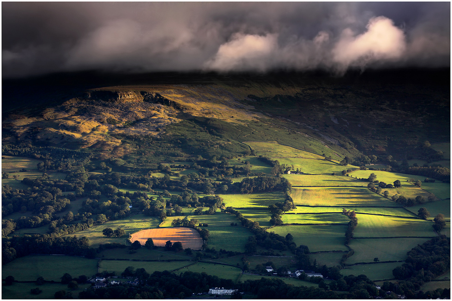 Landscape Shadows n Light by Alan Coles