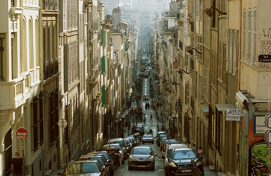 Rue Estelle - Marseille - France by Andrey Permitin