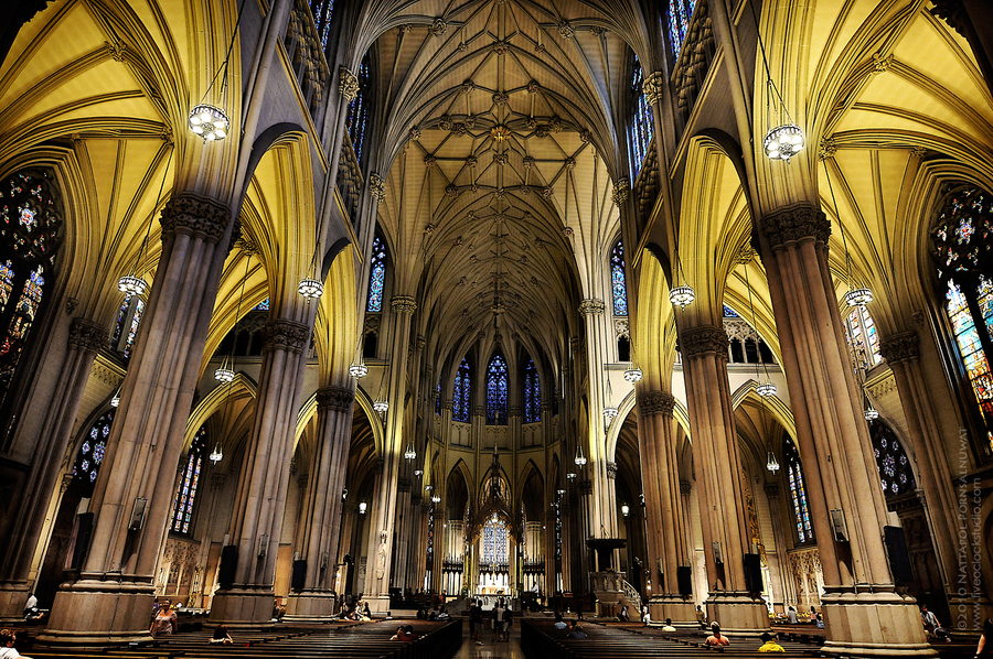 Saint Patricks Cathedral in New York by Nattapol Pornsalnuwat
