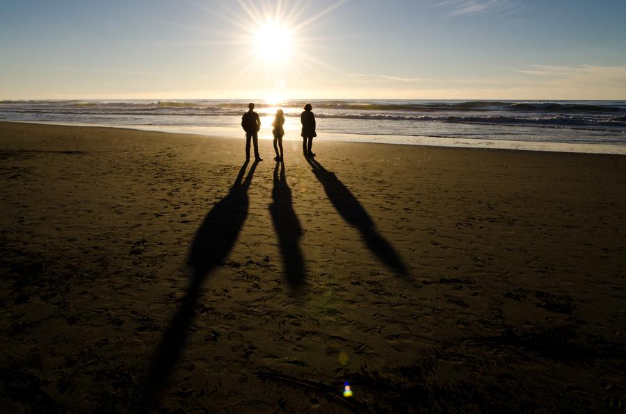 Закат силуэты в oceanside Андреас Koeberl