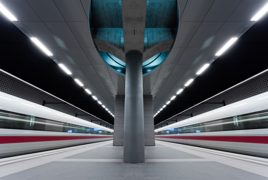 train station architecture - Berlin by Philipp Richert