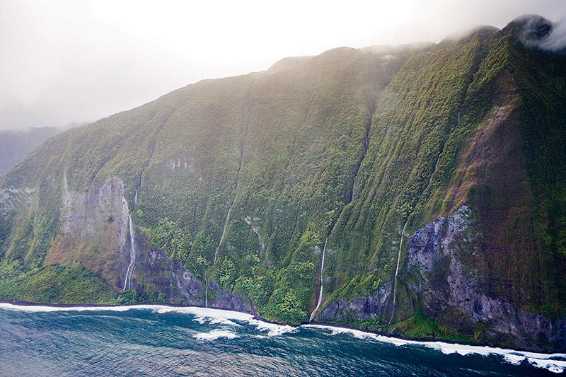 Olo'upena Falls-Molokai- Hawaii-United States