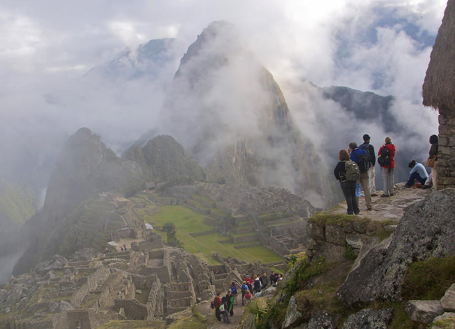 Waiting for the clouds to clear by Joe Routon - Machu Picchu - peru