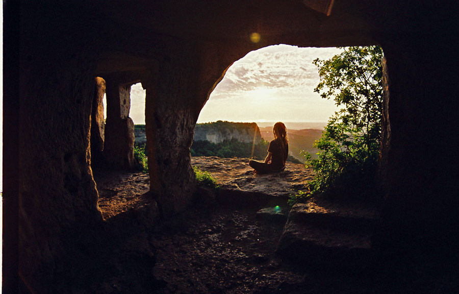 cave monastery by Pocelui Krevetki - Mangup plateau - Crimea