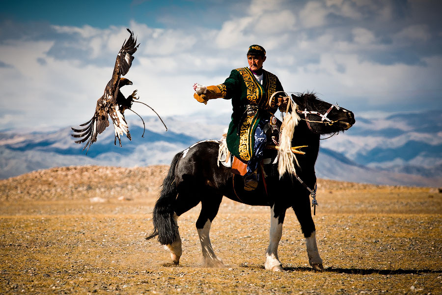 Eagle Hunter by Viacheslav Smilyk  - Western Mongolia