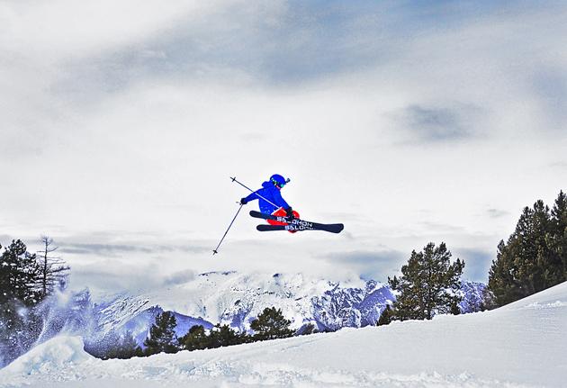 Freestyle Skier - French Alps by Jonathon Williams