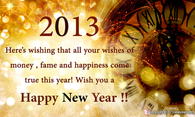 New year greeting cards 2013 great inspire share m4hsunfo