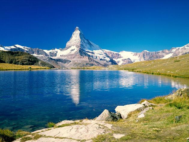 Matterhorn Stellisee Valais Switzerland