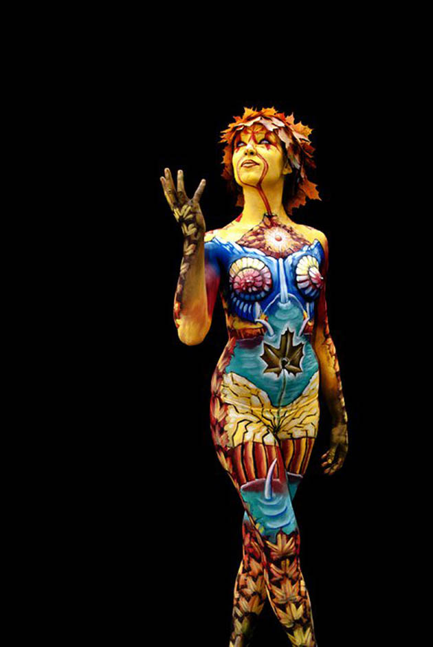 Body Painting Artist Cool Wallpaper
