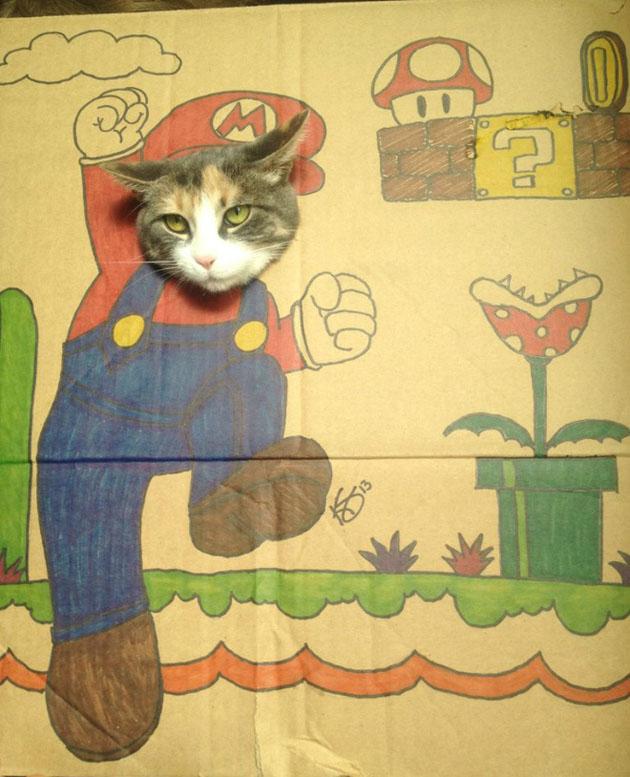 funny cardboard kitty (3)