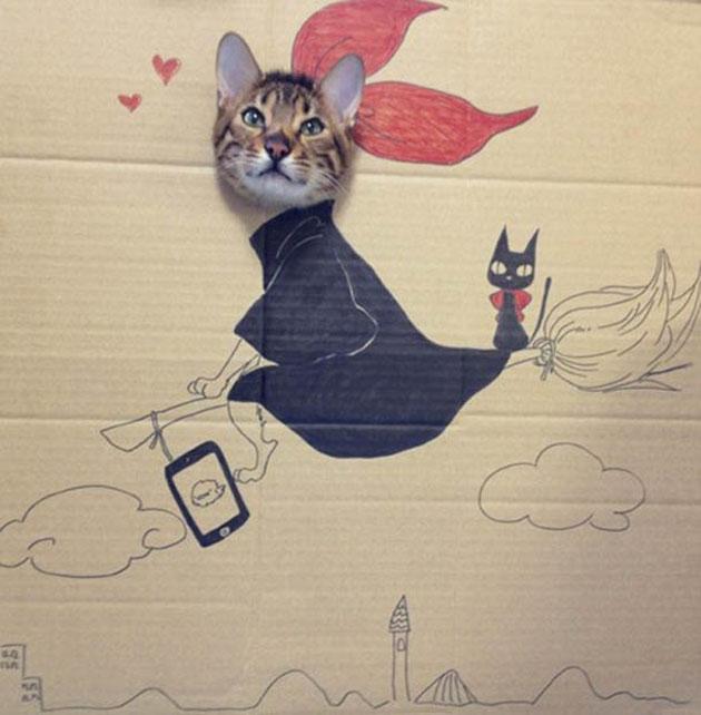 funny cardboard kitty (8)