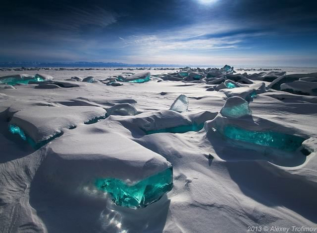 Lake Baikal, south of the Russian region of Siberia
