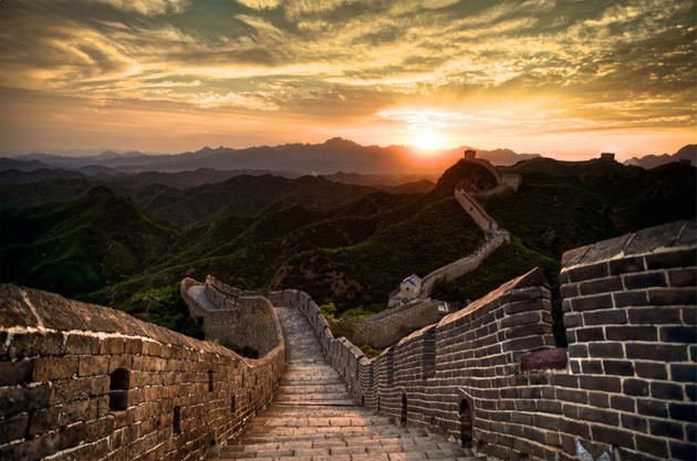 sunset-over-great-wall-of-china