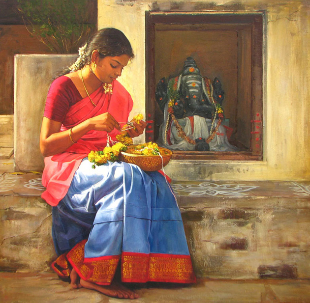 Amazing Oil Painting by South Indian Legend Ilaiyaraaja (12)