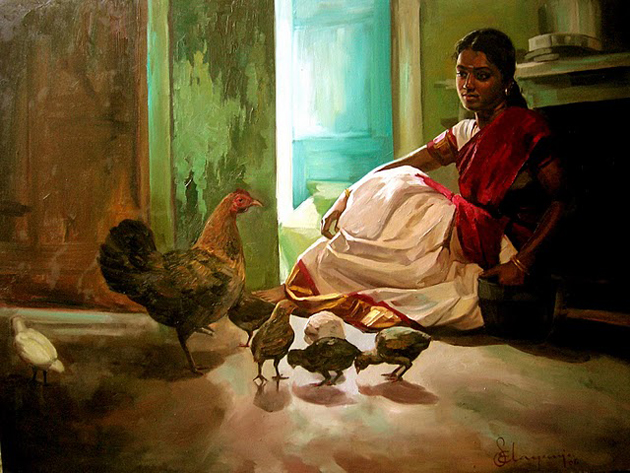 Amazing Oil Painting by South Indian Legend Ilaiyaraaja (16)