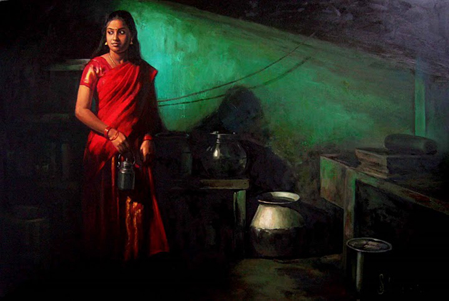 Amazing Oil Painting by South Indian Legend Ilaiyaraaja (17)