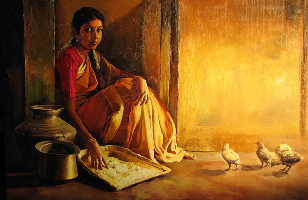Amazing Oil Painting by South Indian Legend Ilaiyaraaja (20)