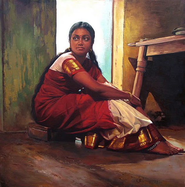 Amazing Oil Painting by South Indian Legend Ilaiyaraaja (24)