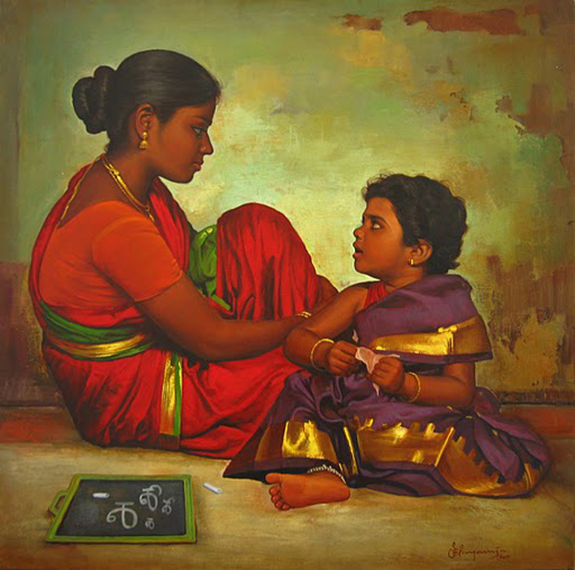 Amazing Oil Painting by South Indian Legend Ilaiyaraaja (28)