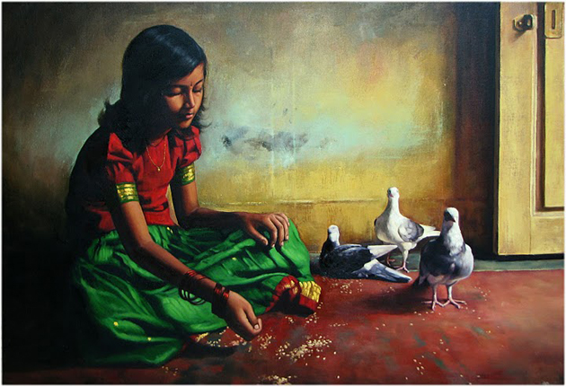 Amazing Oil Painting by South Indian Legend Ilaiyaraaja (4)