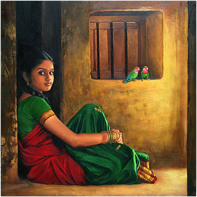 Amazing Oil Painting by South Indian Legend Ilaiyaraaja (6)