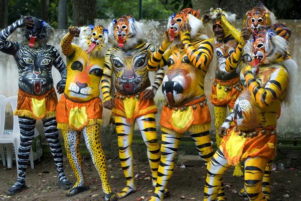 Pulikali (tiger play), Kerala, India