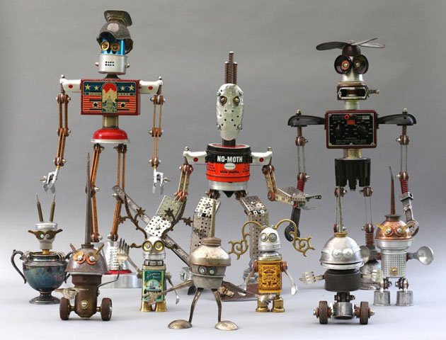 Robot Scrap Sculptures by Brain Marshall (1)