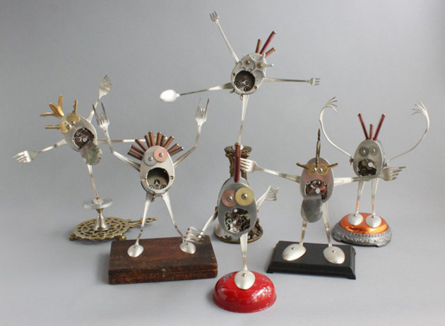 Robot Scrap Sculptures by Brain Marshall (11)