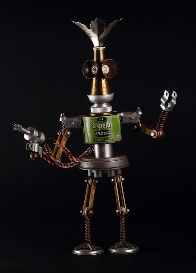 Robot Scrap Sculptures by Brain Marshall (12)