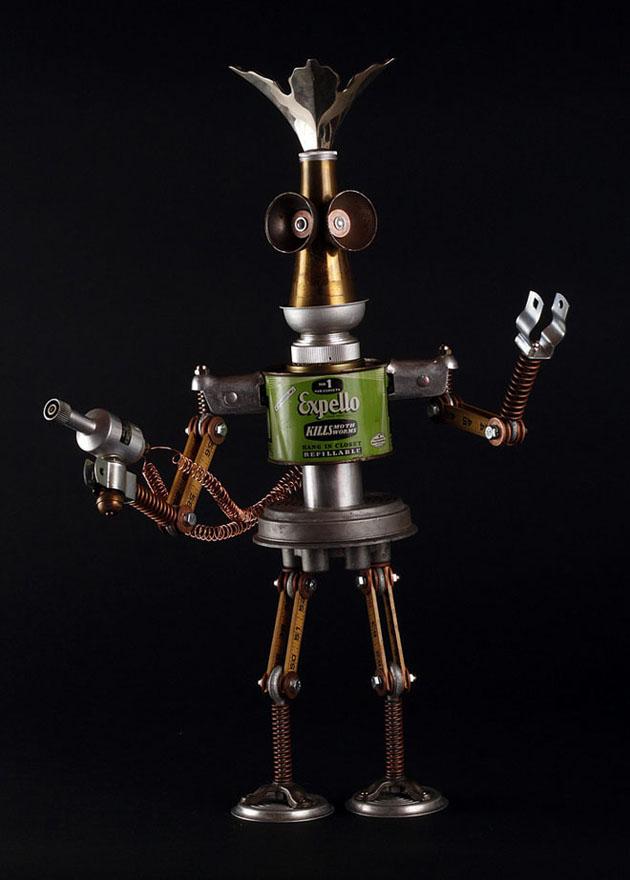 Robot Scrap Sculptures by Brain Marshall (12)