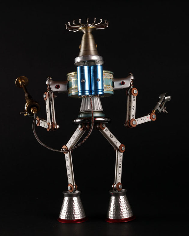 Robot Scrap Sculptures by Brain Marshall (13)