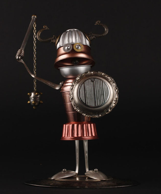 Robot Scrap Sculptures by Brain Marshall (14)