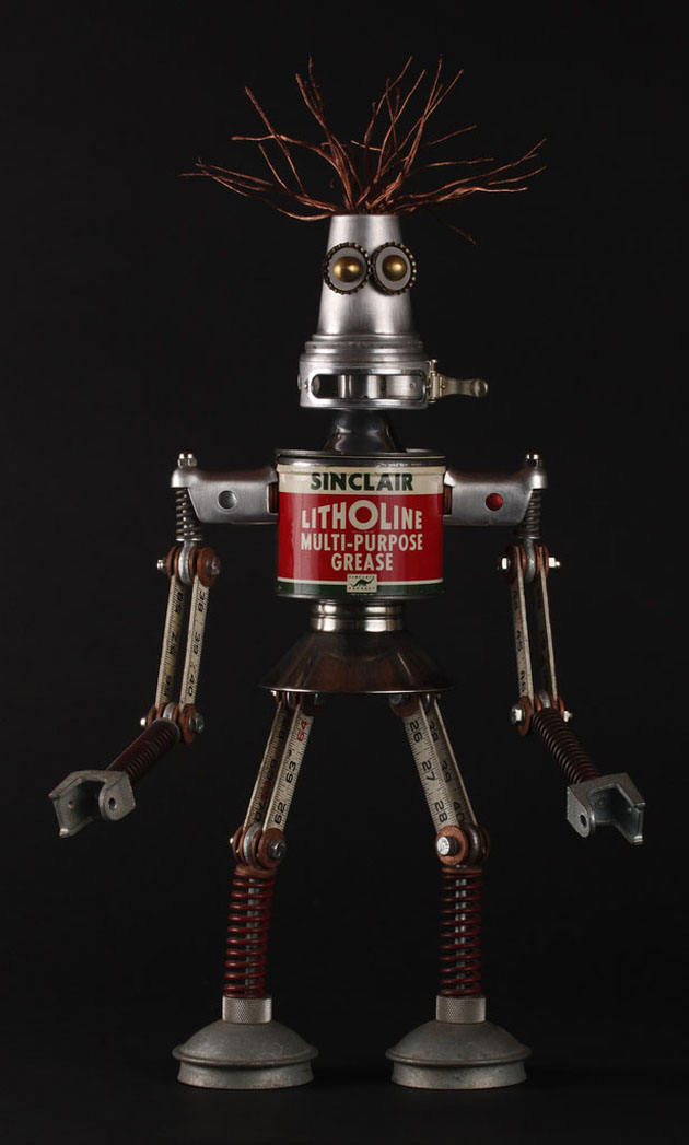 Robot Scrap Sculptures by Brain Marshall (16)
