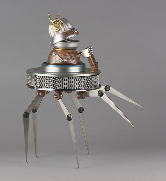 Robot Scrap Sculptures by Brain Marshall (18)