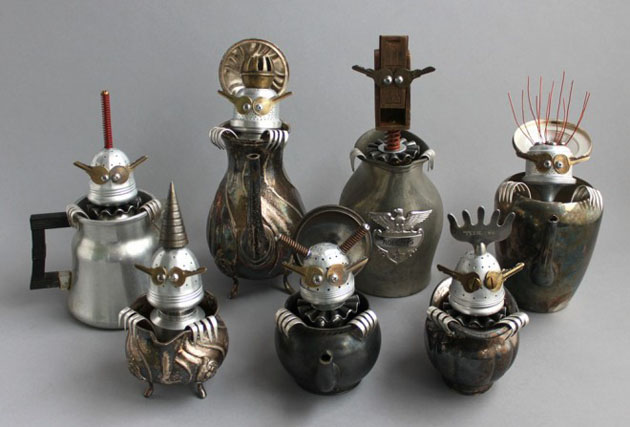 Robot Scrap Sculptures by Brain Marshall (22)