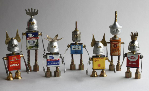 Robot Scrap Sculptures by Brain Marshall (5)