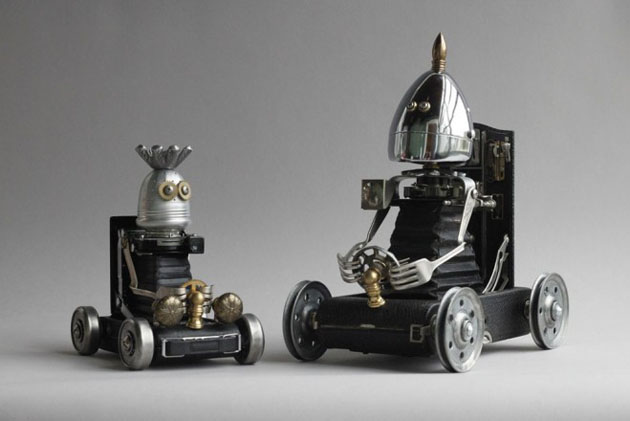 Robot Scrap Sculptures by Brain Marshall (6)