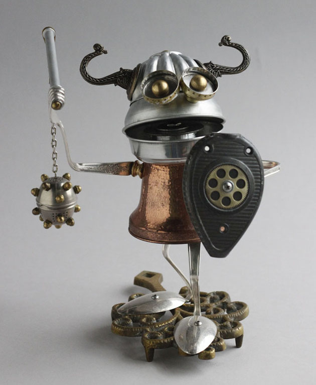 Robot Scrap Sculptures by Brain Marshall (7)