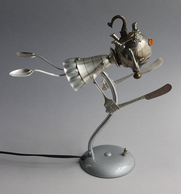 Robot Scrap Sculptures by Brain Marshall (8)