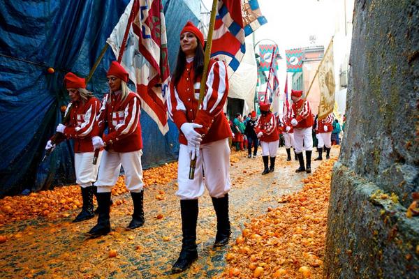 The Battle of Oranges, Ivrea, Italy