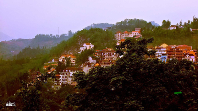One corner of the town of Sapa by Khoi Tran Duc
