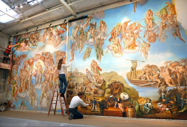 Pics for wall mural paintings for Beautiful wall mural