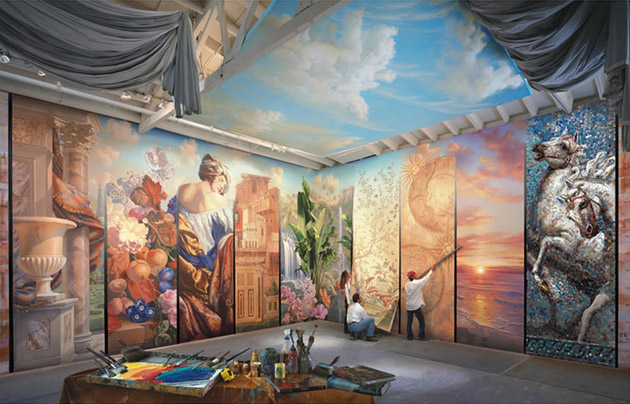 Best and Beautiful inspirited Wall Mural Paintings (24)