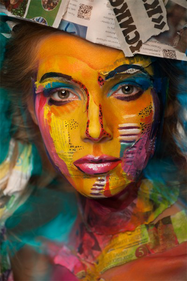 Collection of Face Art Portraits from Alexander Khokhlov