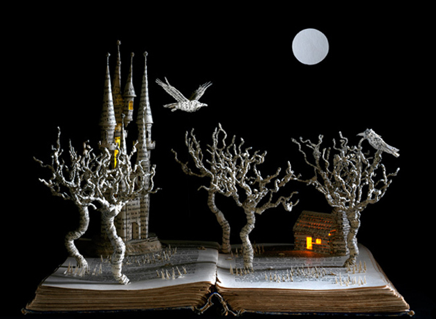 Beautiful 3D cut out of Books (1)