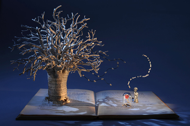 Beautiful 3D cut out of Books (10)