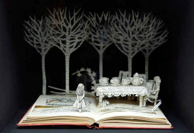Beautiful 3D cut out of Books (2)