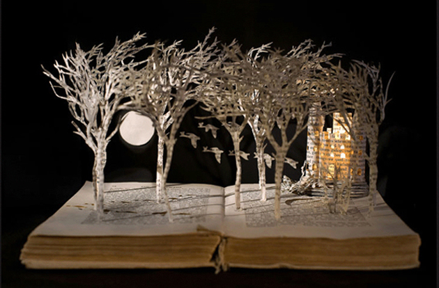 Beautiful 3D cut out of Books (3)